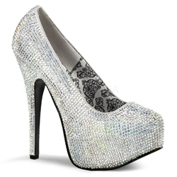 Teeze Iridescent Rhinestone Bridal Pumps