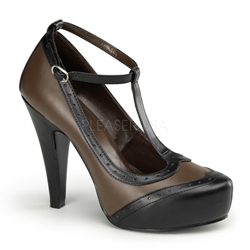 Betty's Brown T-Strap Pumps