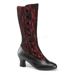 Spooky Button Up Calf Boots