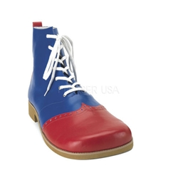 Men's Blue Clown Shoes with Red Toe