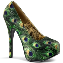 Teeze Basic Peacock Platform Pumps