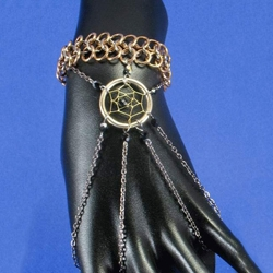 Black and Gold Dreamcatcher Slave Bracelet 37-4019