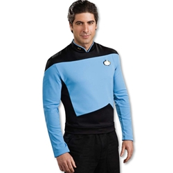 Star Trek Next Generation Blue Shirt Deluxe Adult Costume 38-60275