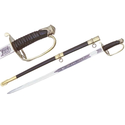 Shelby Officers Sword - Etched Blade