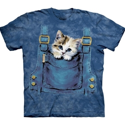 Kitty Overalls Adult T-Shirt