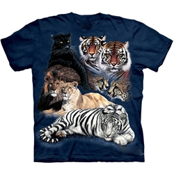 Big Cat Collage Adult T-Shirt 43-1010650