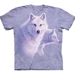 Graceful White Wolves Adult T-Shirt