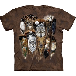 Animal Feathers Adult T-Shirt 43-1016890