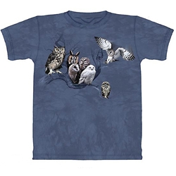Owl Collage Adult T-Shirt 43-1018651