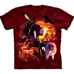 Indian Collage Adult T-Shirt 43-1022570