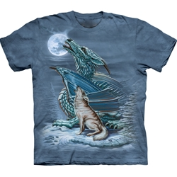 Dragon Wolf Adult T-Shirt 43-1031940