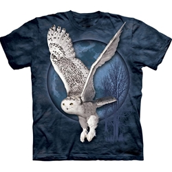 Snow Owl Moon Adult T-Shirt 43-1031970
