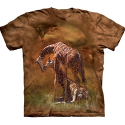 Giraffe Sunset Adult T-Shirt 43-1032900