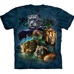 Big Cats Jungle Adult T-Shirt 43-1033150