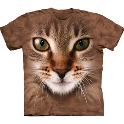 Striped Cat Face Adult T-Shirt 43-1033500