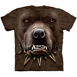 Zombie Pitbull Face Adult T-Shirt 43-1033710