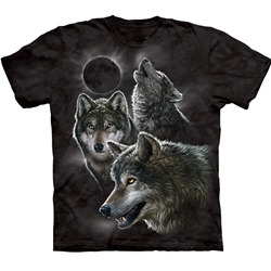 Eclipse Wolves Adult T-Shirt 43-1033980