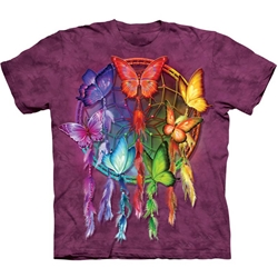 Rainbow Butterfly Dreamcatcher Adult T-Shirt 43-1034010
