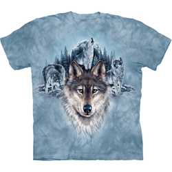 Blue Moon Wolves Adult T-Shirt 43-1034500