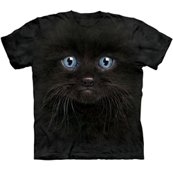 Black Kitten Face Adult T-Shirt 43-1035030