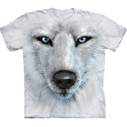 White Wolf Face Adult T-Shirt 43-1035170