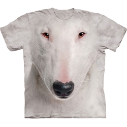 Bull Terrier Face Adult T-Shirt 43-1035490