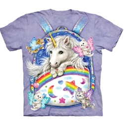 Backpack Unicorn Adult T-Shirt 43-1035600