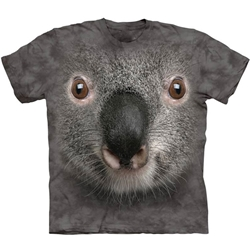 Gray Koala Face Adult T-Shirt 43-1035740