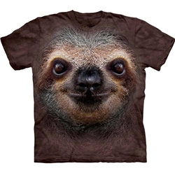 Sloth Face Adult T-Shirt