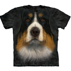 Bernese Mountain Dog Face Adult T-Shirt 43-1036140