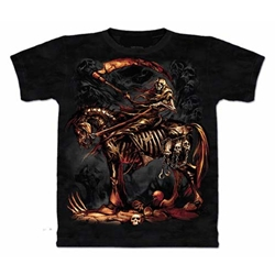 Scythe Reaper Skeleton Adult T-Shirt