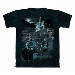 Zombies and Ghosts Adult T-Shirt