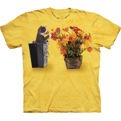 Flower Kitten Adult T-Shirt