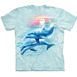 Dolphin Sunset Youth's T-Shirt 43-1532850