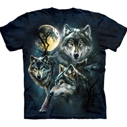 Moon Wolves Collage Youth's T-Shirt 43-1533090