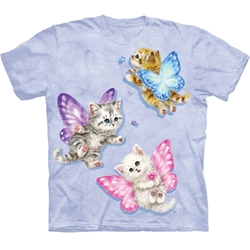 Butterfly Kitten Fairies Youth's Tee Shirt 43-1535680