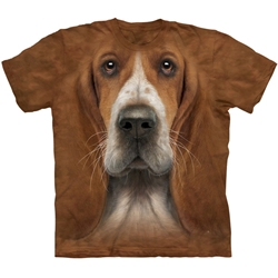 Basset Hound Head Youth's Tee Shirt 43-1536070