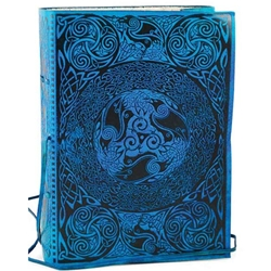 Blue Celtic Leather Blank Book 45-BBBCCELB