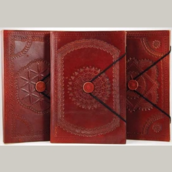 Large Embossed Leather Blank Book 45-BBBCEMB