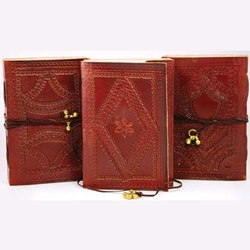 Medium Embossed Leather Blank Book 45-BBBCEMBM