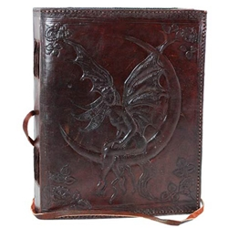 Fairy Moon Leather Journal Blank Book
