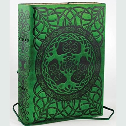 Green Tree of Life Leather Blank Book 45-BBBCGTR