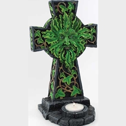 Greenman on Cross Tealight Holder 45-CHT005