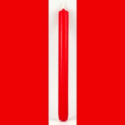 Ten Inch Tall Red Taper Candle 45-CT10RD
