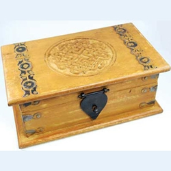Celtic Knot Wooden Chest 45-FB335L