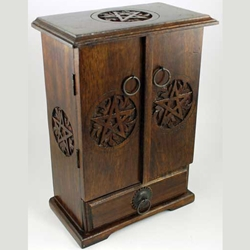 Wooden Pentagram Cupboard 45-FBMW32