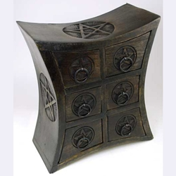 Six Drawer Pentagram Herb Cupboard 45-FBMW42