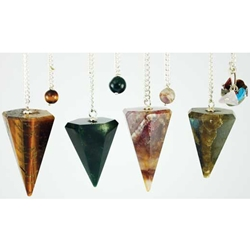 Assorted 6 Faceted Pendulum 45-G6PENV