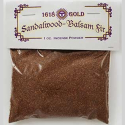Brown Sandalwood and Balsam Fir Powdered Incense 45-IP16BSB