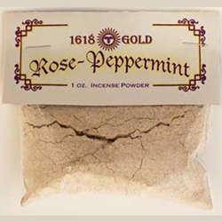 White Rose and Peppermint Powdered Incense 45-IP16WRP